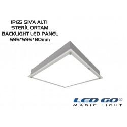 40W, SIVA ALTI, BACKLIGHT LED, STERİL ORTAM ARMATÜRÜ,595*595mm,IP65