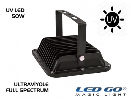 50W UV LED PROJEKTÖR - FULL SPECTRUM-COBLED-220V