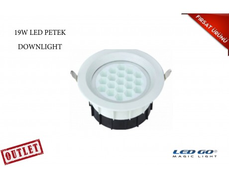 19W YUVARLAK PETEK LED DOWNLIGHT
