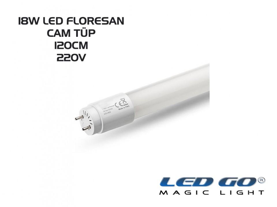 CAM TÜP LED FLORESAN 18W T8 1200MM 220V
