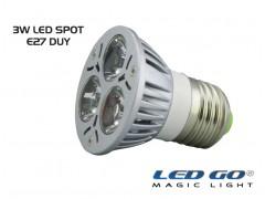 3 WATT LED SPOT AMPUL E27 DUY-KIRMIZI RENK-24V