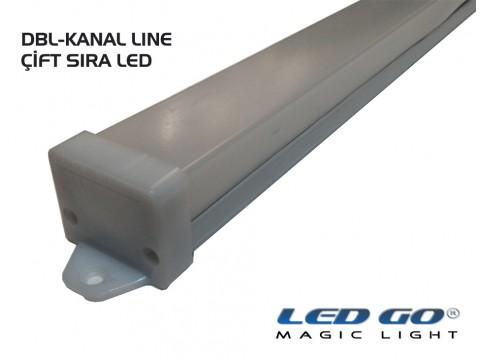 DBL-SERİSİ LED KANAL PROFİL 200CM-ÇİFT SIRA LED İÇİN UYGUNDUR.