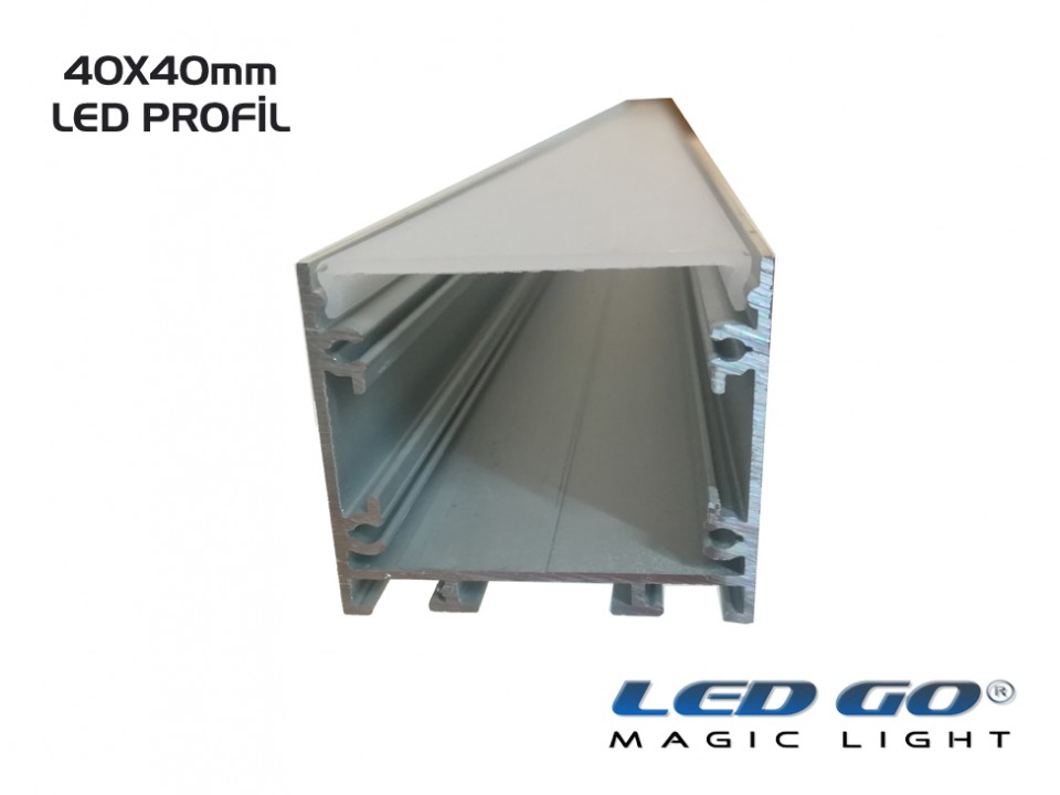 K40-SERISI LED KANALI 200cm,40x40mm