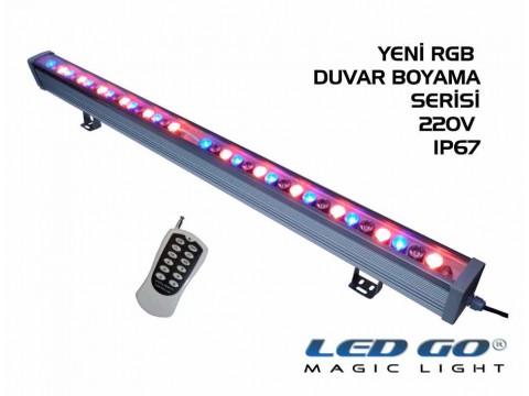 36W,RGB DUVAR BOYAMA,RF KUMANDALI,220V,100CM