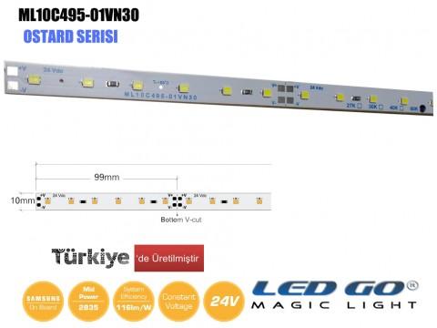 ML10C495-01VN30 | 2835 LEDBAR-50CM-60LED/M-24VDC CEM1 PCB 10mm OSRAM/SAMSUNG LED