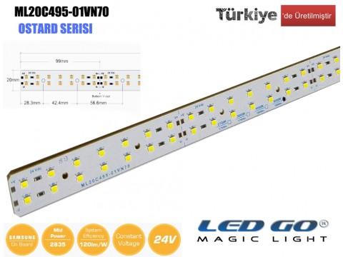 ML20C495-01VN70 | 2835 LEDBAR-50CM-70LED/M-24VDC CEM1 PCB 20mm OSRAM/SAMSUNG LED