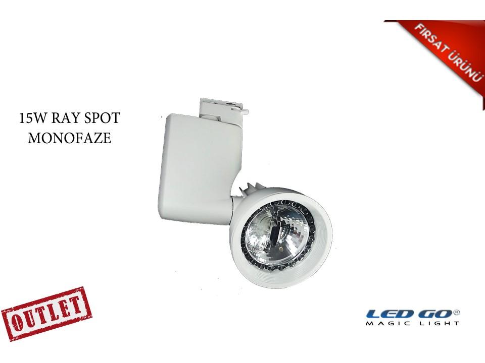 15W LED BEYAZ RENK RAY SPOT-MONOFAZE