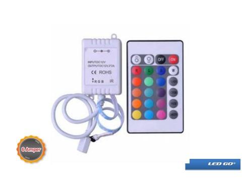 3x2A RGB LED KONTROL CIHAZI IR UZAKTAN KUMANDALI